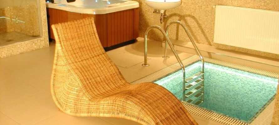 Hotellet har en lille wellnessafdeling med sauna, boblebad og en udendørs pool. Slap af efter en lang dag i Prag.