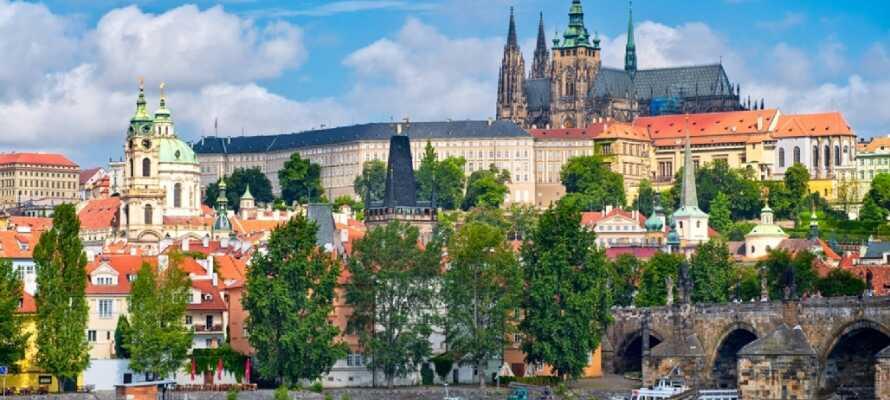 Prag erbjuder många sevärdheter som Karlsbron, Gyllene Gatan, Kafkas hus och den imponerande katedralen.
