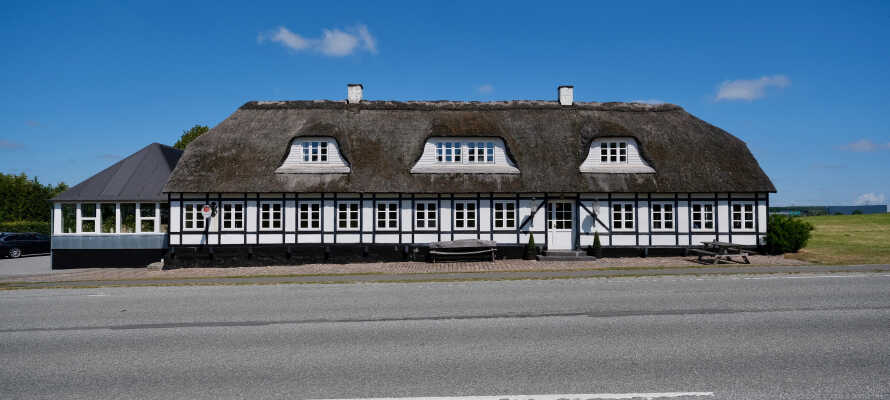Årslev kro ligger i landlige omgivelser, men likevel nært Århus sentrum.