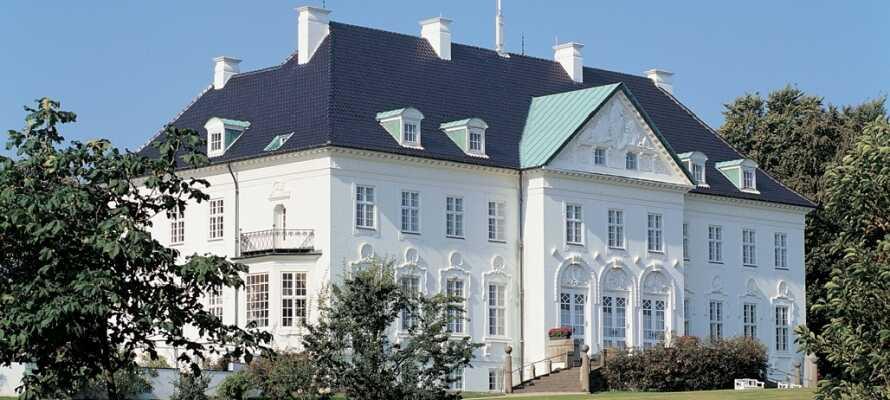 Wenn die Königin nicht in ihrer Sommerresidenz logiert, können Sie den Schlossgarten und ihren Rosengarten auf Schloss Marselisborg erleben.