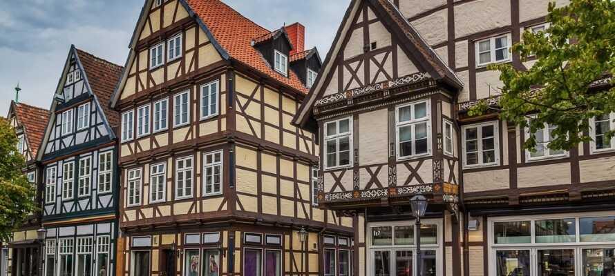 Nyd en dag i den hyggelige by, Celle, hvor I finder mange flotte bindingsværkshuse i den gamle bydel.