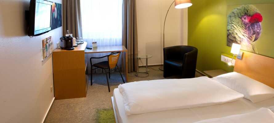 Hotellets værelser er komfortabelt indrettet og udstråler en hjemlig charme
