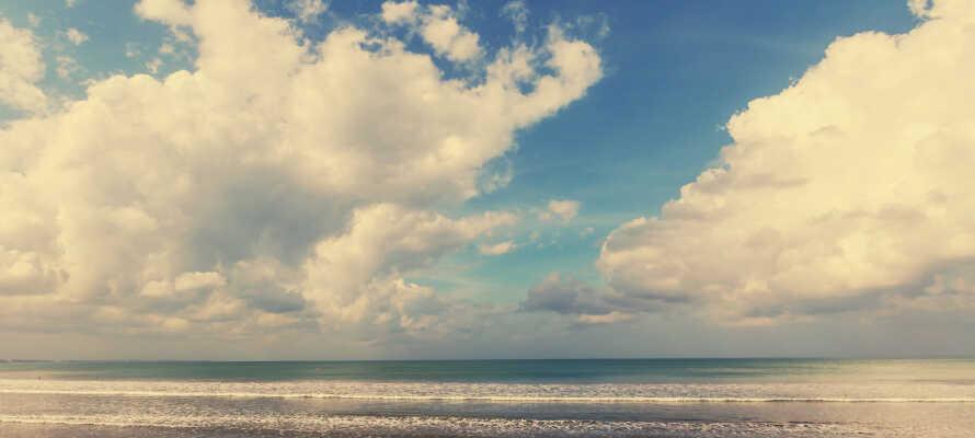 Kør en tur ud til den jyske østkyst, gå en tur langs stranden og nyd den frisk havluft.