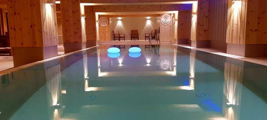 Spåtind Sport Hotel har et nyrenovert innendørs basseng (høsten 2016)