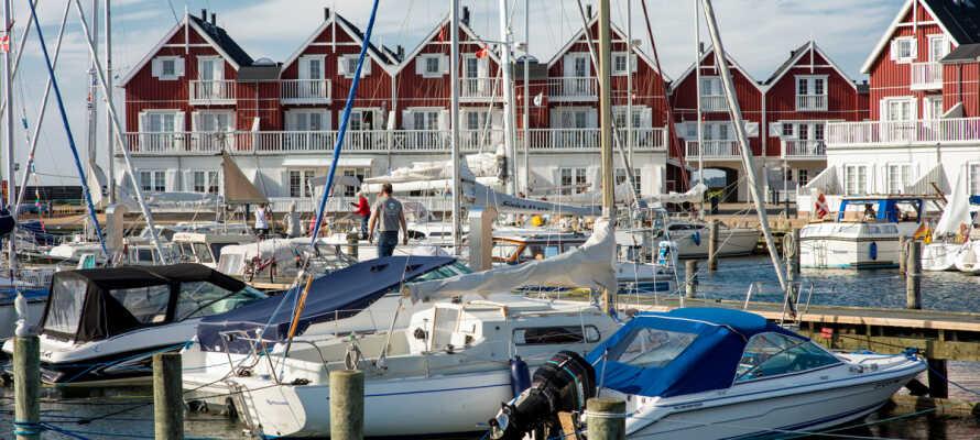 Das Gasthaus Bagenkop Kro hat eine hervorragende Lage nahe an Marina und Meer in Bagenkop auf Südlangeland.