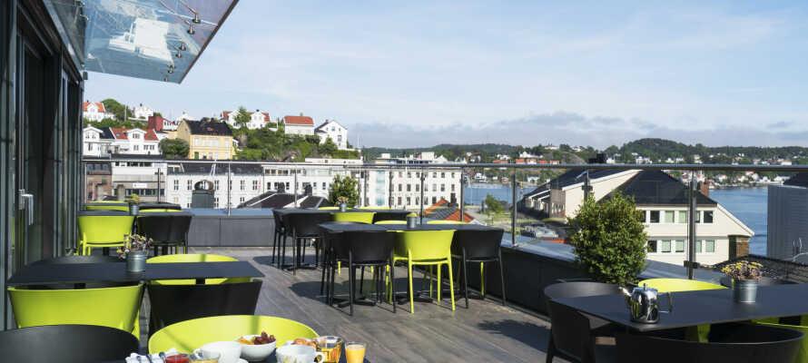 Thon Hotel Arendal är nyrenoverat och ligger centralt i den populära hamnstaden Arendal i sydöstra Norge