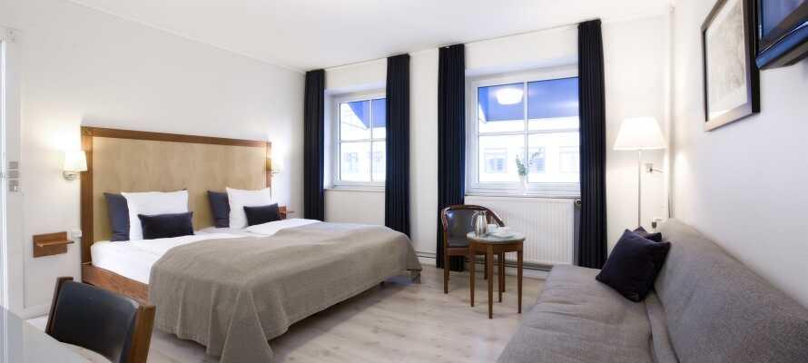 Buchen Sie ein Upgrade auf eines der herrlichen Superior-Zimmer des Hotels und genießen Sie Ihren Urlaub auf höchstem Komfort.