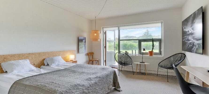 Hotellets indbydende dobbeltværelser udgør en god og komfortabel base for Jeres ophold i Fjerritslev.