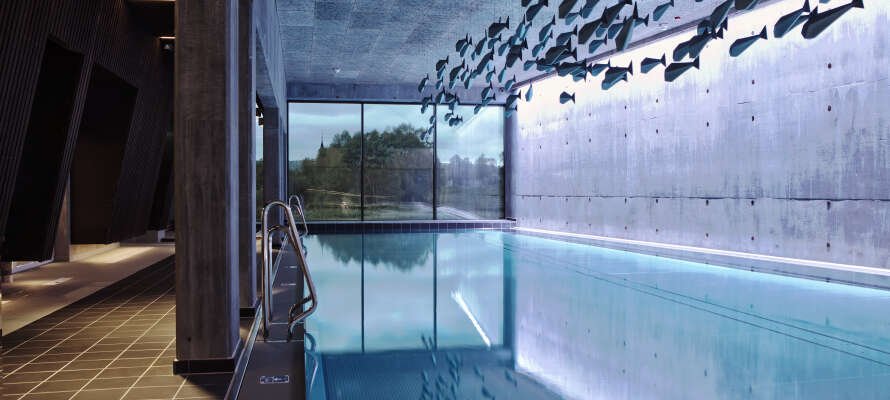 Forkæl jer selv i hotellets wellnessafdeling med både inden-og udendørs pool, sauna og massagebehandlinger.