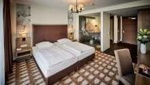 Exempel på ett av hotellets trevliga rum.