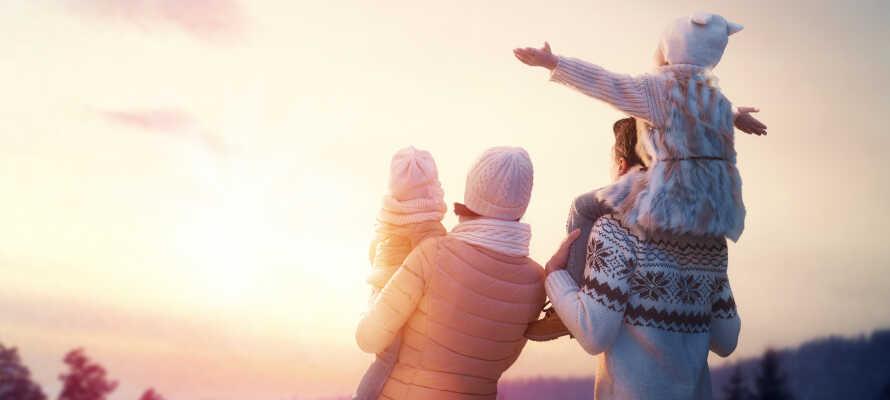 Hotellet erbjuder familjerum och skiduthyrning så här kan ni tag med hela familjen på vintersemester.