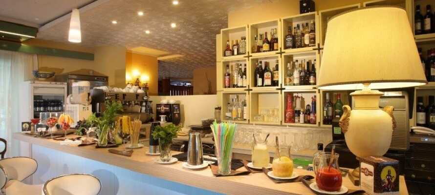 I hotellets hyggelige bar/lounge kan dere nyte atmosfæren og hverandres selskap over en tiltrengt forfriskning.