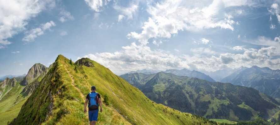Tag på vandretur i de østrigske alper og kom helt tæt på den imponerende natur