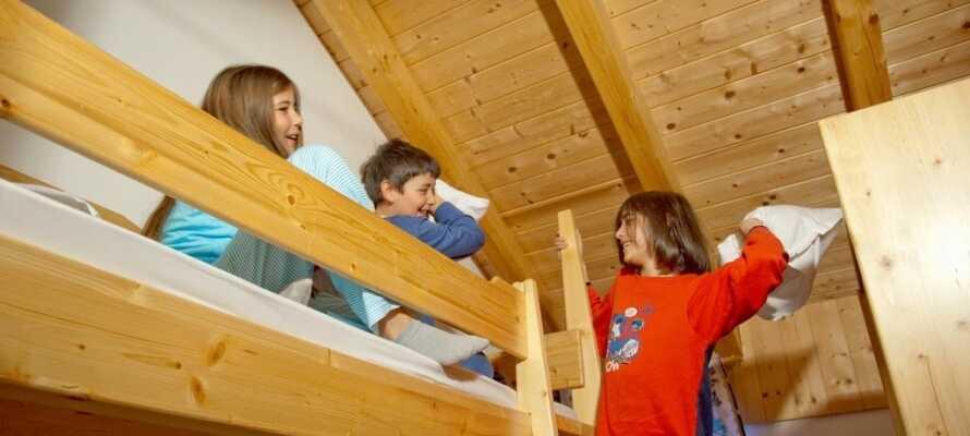 Det er muligt at opgradere til et familieværelse hvis I har børn med på ferien