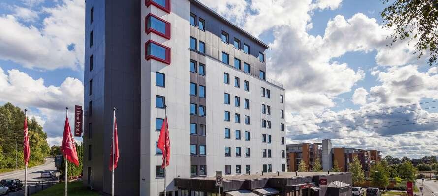 Hotellet ligger placeret i det nordlige Oslo og er et godt udgangspunkt for gode oplevelser i den norske hovedstad