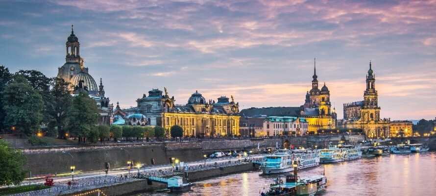 I bor 10 minutter fra Dresden-centrum, hvor I kan opleve flotte bygninger og byen som kaldes Elbens Firenze.