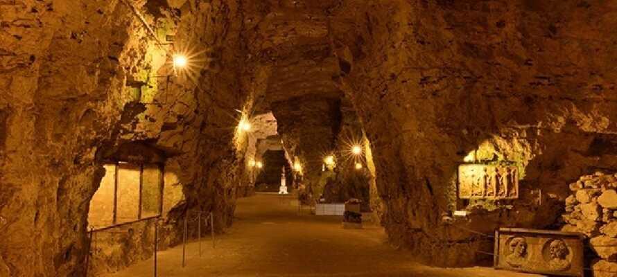 Erleben Sie das markante, aber etwas kühle, unterirdische Museum mit seinen spannenden Gipsfiguren.