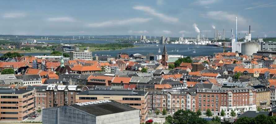 Ålborg ligger ca 30 minuter från St. Binderup Kro, med flera sevärdheter såsom Ålborg Zoo och Utzon-museet.