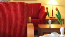 Hotellets lyse værelser indbyder til afslapning og hygge