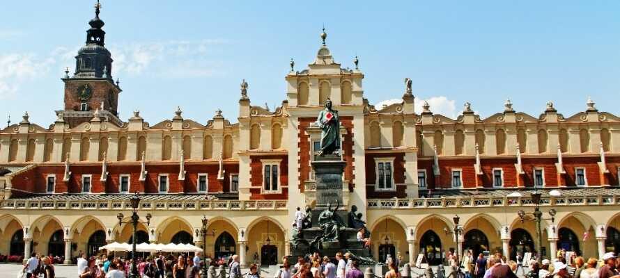 Krakow anses for å være en av de mest attraktive byene i Sentral-Europa med Europas største markedsplass.