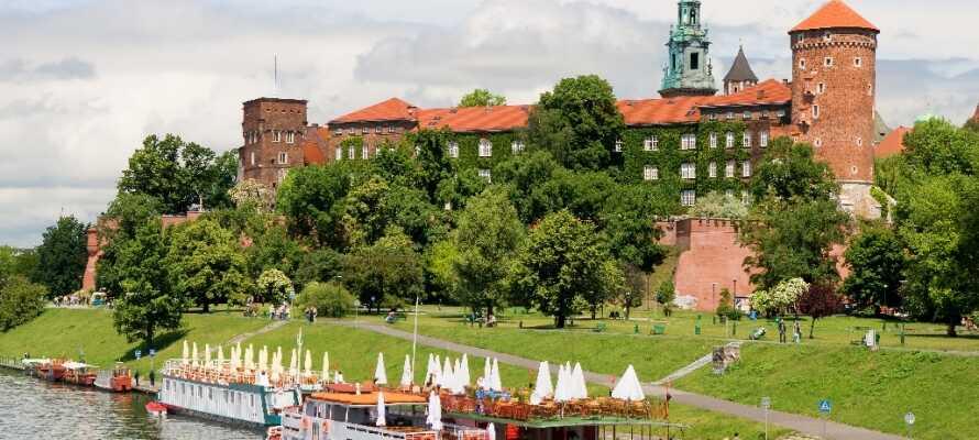 Krakow har mye å tilby med alt fra byliv, historie og arkitektur. Gå ikke glipp av å besøke det vakre Wawel slott.