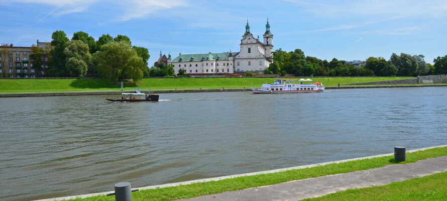 I Krakow finder I mange seværdigheder, her er masser af smuk arkitektur og natur.
