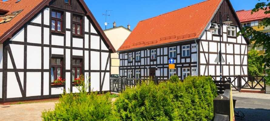Besuchen Sie das Hafenstadt Ustka und geniessen Sie die schöne Architektur. Es gibt dort viele Restaurants und im Sommer ist Ustka voller Leben.