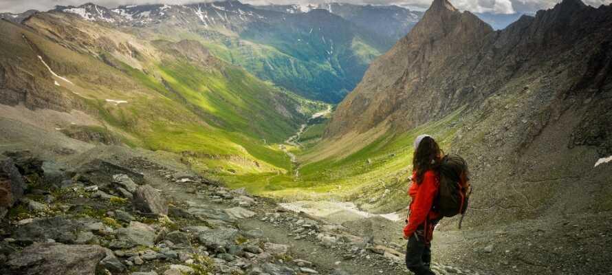 Dere befinner dere i et land med fantastiske landskap, som er perfekt til gåturer.