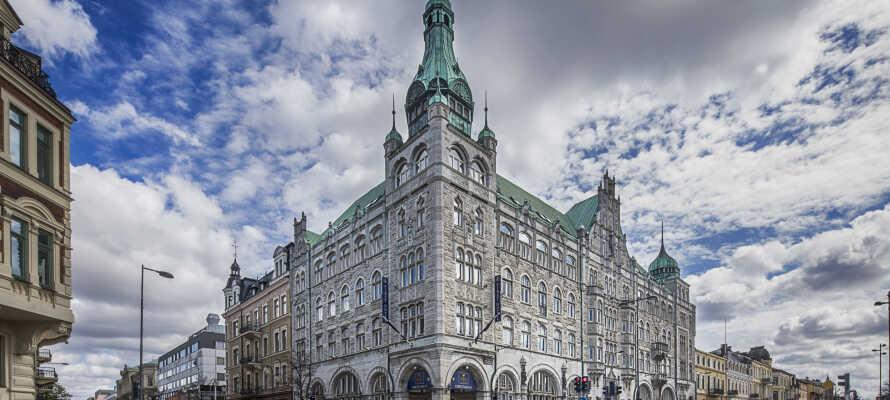 Välkommen till First Hotel Christian IV, d'r ni har nära till stadens gågator.