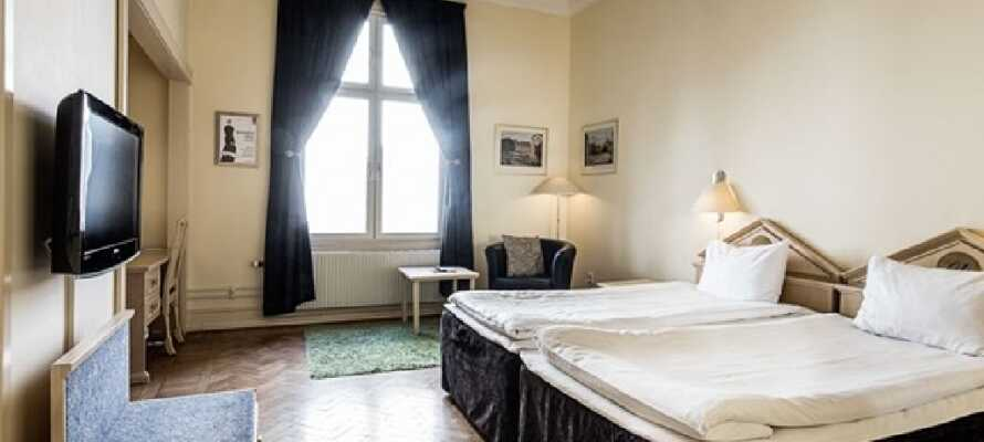 Lyse og romslige værelser, hvor du kan få en god natts søvn.