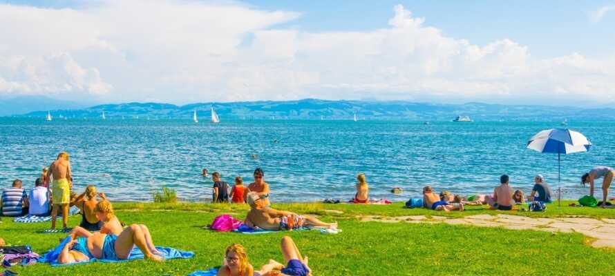 Vid Bodensjön finns många aktiviteter och på sommaren kan ni njuta av sol och en underbar utsikt.