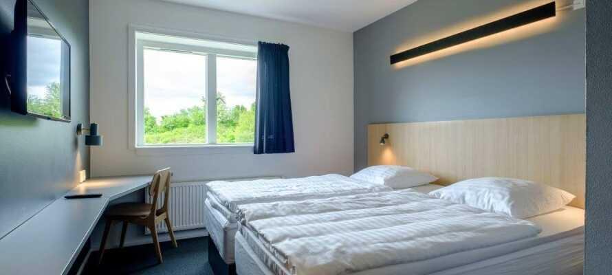 Hotellet har över 126 ljusa rum, så ni kan få en god natts sömn före morgondagens äventyr.