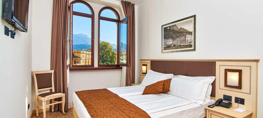 Es gibt verschiedene Zimmerkategorien im Hotel.