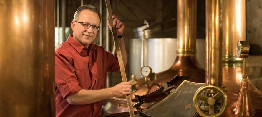 Hotellet har sitt egna bryggeri där gäster kan få en guidad tur av mästerbryggarn med ölprovning.