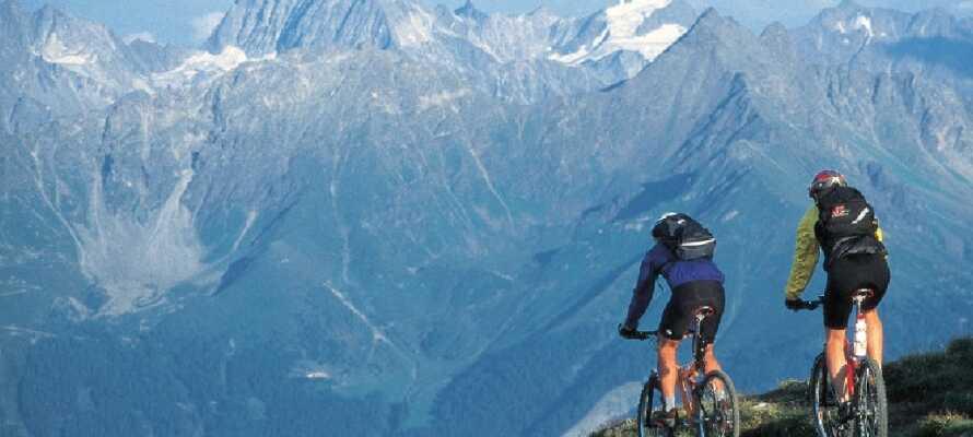 Området er især egnet til cykling, hvad enten man er til landevejscykler eller mountainbike.