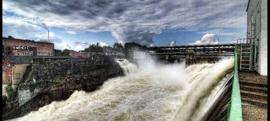 Der beeindruckende Sarps Wasserfall ist der größte in Europa.