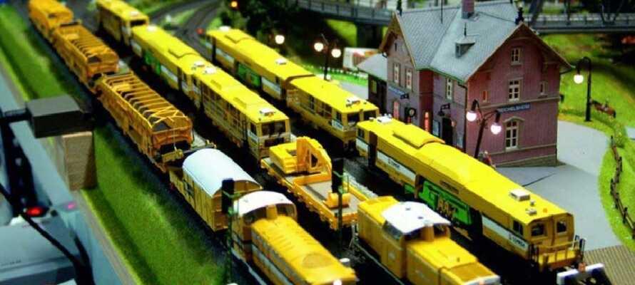 Ta med barnen till det 400 kvm stora modelljärnvägscentrat  i den gamla stadsdelen i Fredrikstad.
