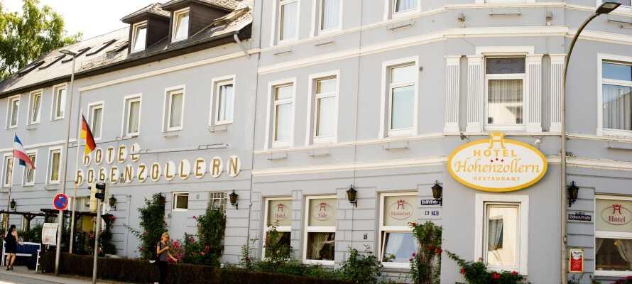 Hotel Hohenzollern har en hyggelig beliggenhed i Slesvig