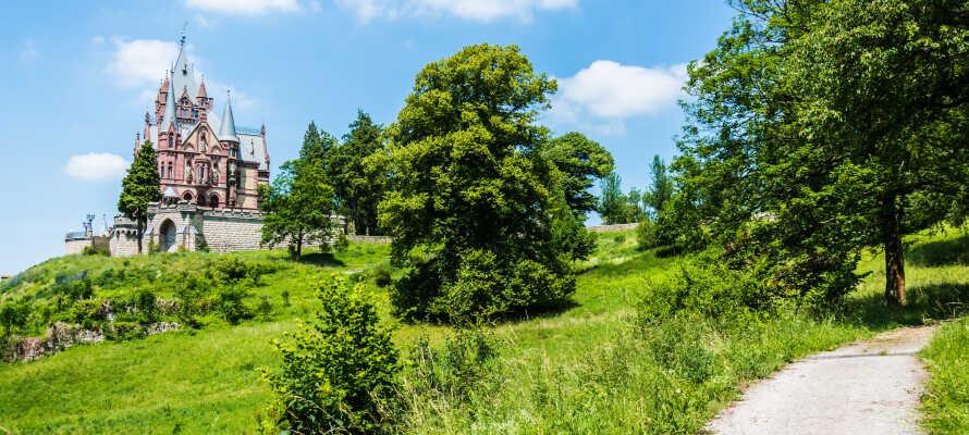 Besök vackra Schloss Drachenburg, som ligger i högt upp och ni kan njuta av en slående utsikt över området.