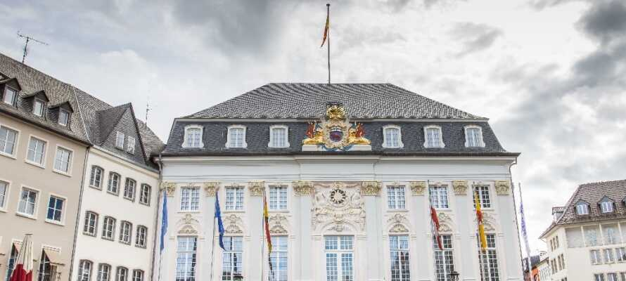 I Bonn er det mulig å besøke kunstgalleriet, Historisk Museum eller ta en tur til Beethovens barndomshjem.