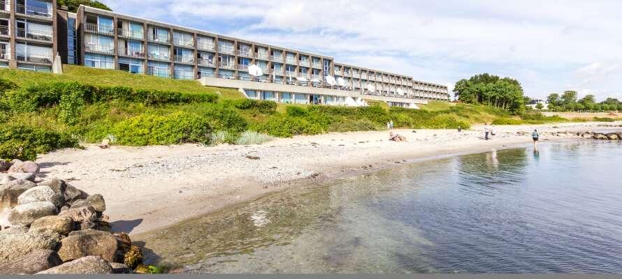 Hotellet har ett utmärkt läge ända ner till Århus vik, nära den vackra naturen och Århus stad.