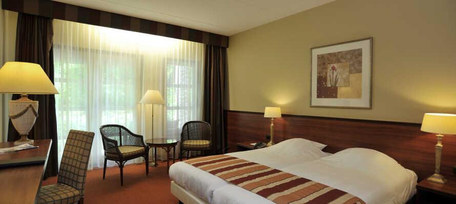 Die hellen und geräumigen Zimmer bieten eine schöne Basis für Ihren Aufenthalt in Oranjewoud.