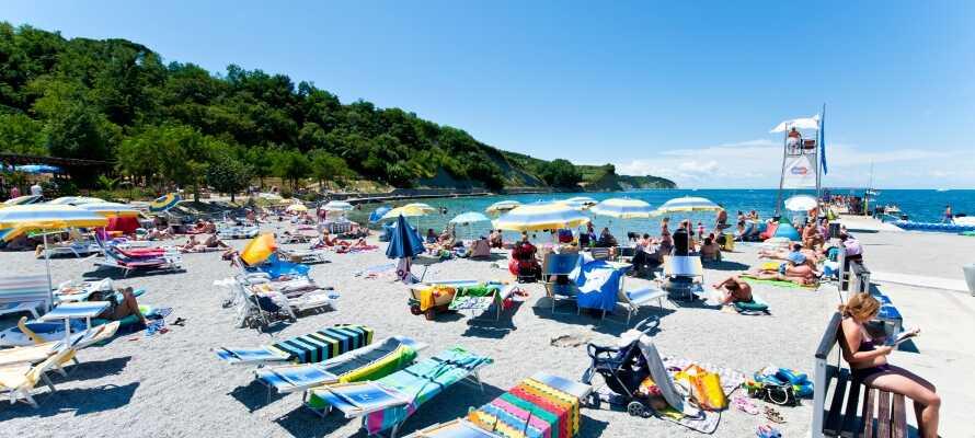 Hotellet tilbyder en ideel base for en minderig sommerferie i Slovenien ved Adriaterhavet.