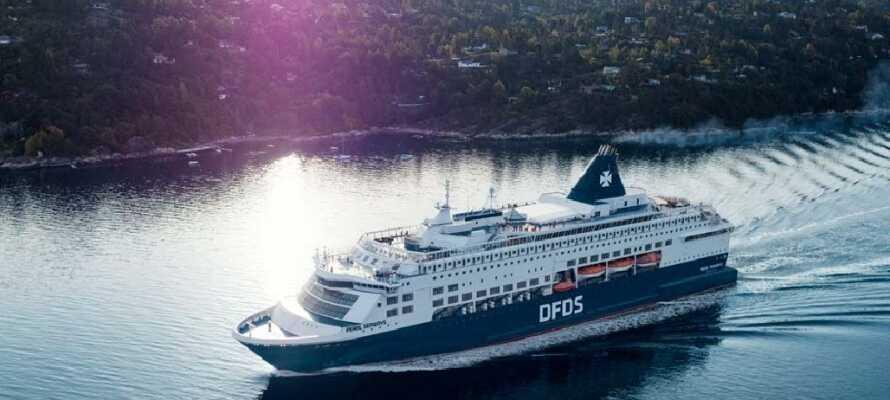 Sejl gennem den fantastiske smukke norske natur på vej til Oslo.