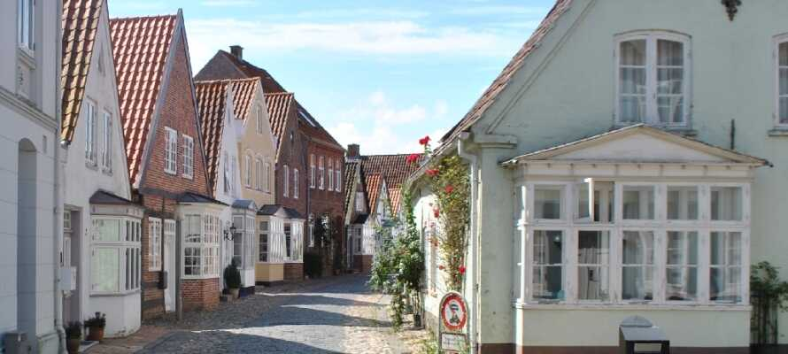 Die Tønder Motel Apartments liegen zentral in Tønder, wo Sie gemütliche Straßen erwarten.