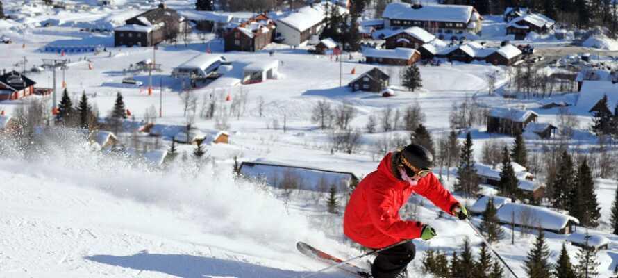 Skeikampen är en trevlig stad, inte minst under vintertiden, med flera butiker och restauranger.