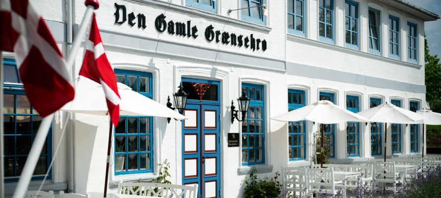 Das alte historische Grænsekro ist der perfekte Ort, um sich zu entspannen und dem Trubel zu entfliehen.