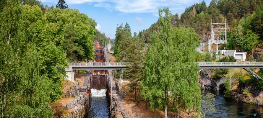 Das Hotel befindet sich in schöner Umgebung in Vrådal.