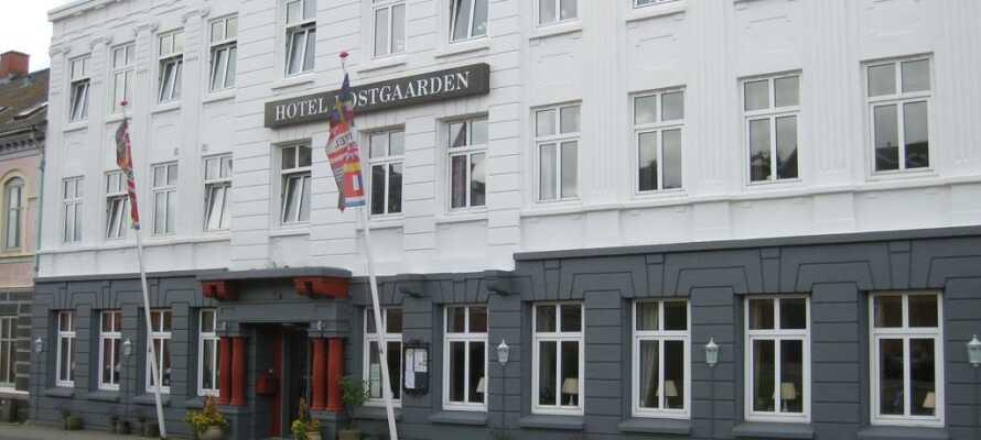 Hotel Postgaarden Fredericia er et historisk hotel, med en hyggelig og romantisk atmosfære.
