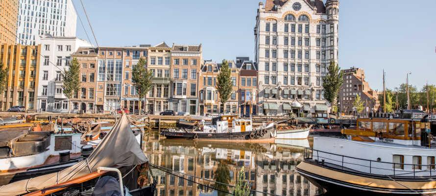 Ikke langt fra hotellet finder I havnebyen Rotterdam, der har et væld af oplevelser for hele familien.